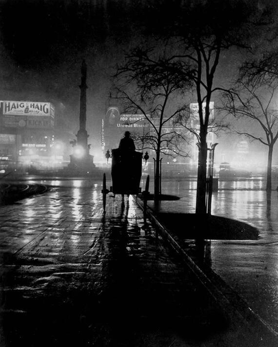 Columbus Circle at Night, New York 1920